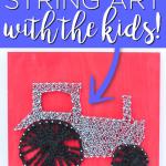 DIY String Art Kids Craft Idea