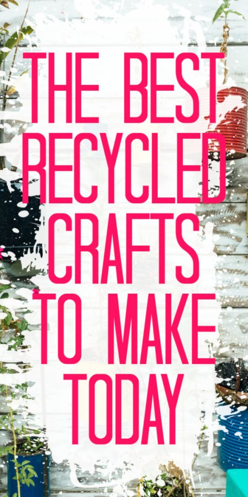 Make these recycled crafts with things that you would typically throw out! A great way to get crafty for less money and make something amazing! #recycled #recycle #crafts #crafting #kidscrafts