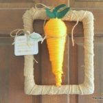 Carrot Spring Wreath -- perfect for spring and Easter!