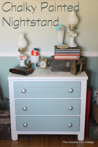Chalky Painted Nightstand The Country Chic Cottage