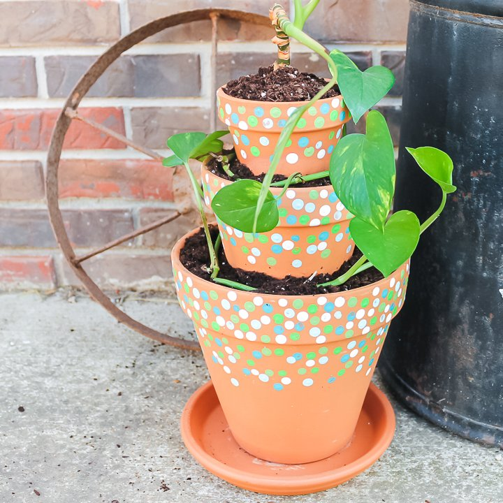 how to make a tiered planter