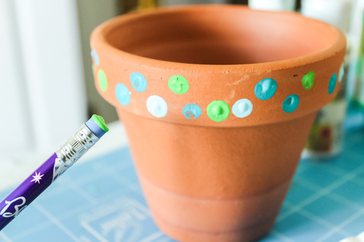 how to paint dots easily