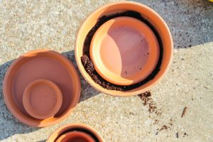 stacking clay pots