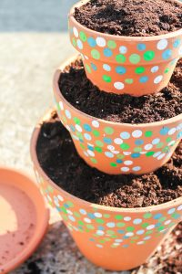stacking planter pots