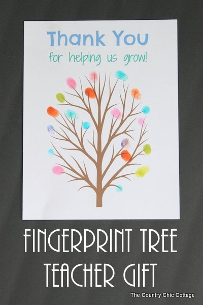 fingerprint tree teacher gift print this tree and add the fingerprints of the classroom