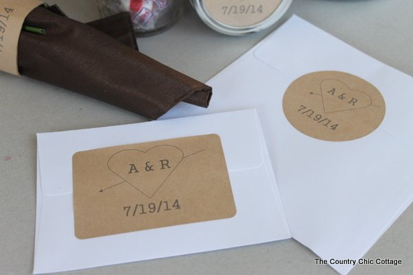 How to Print Custom Wedding Labels -- learn how to design and print your own custom wedding labels for any part of your ceremony or reception.