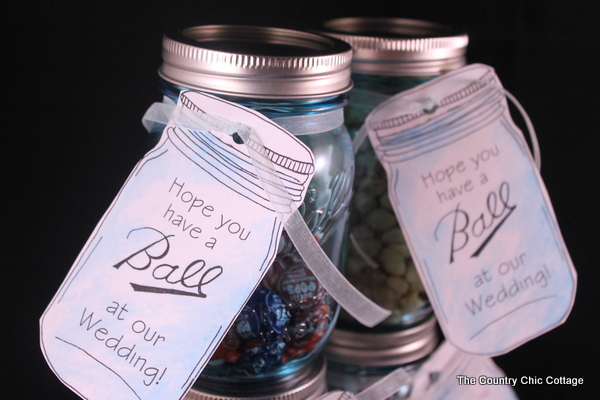 Mason Jar Wedding Favors With Free Printable Tags Love Jars And These