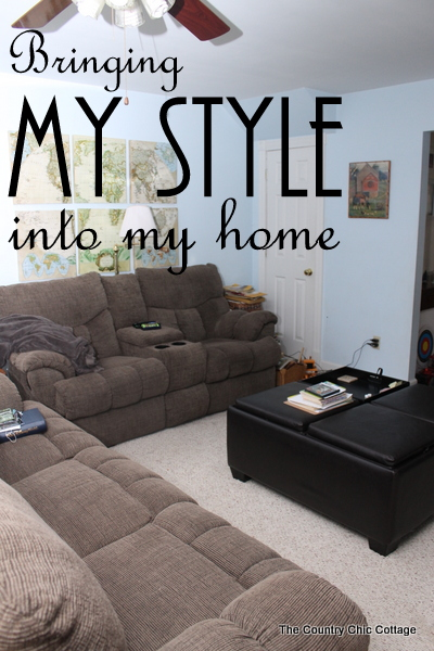 Bringing my style into my home -- matching rustic and modern style into a family room.