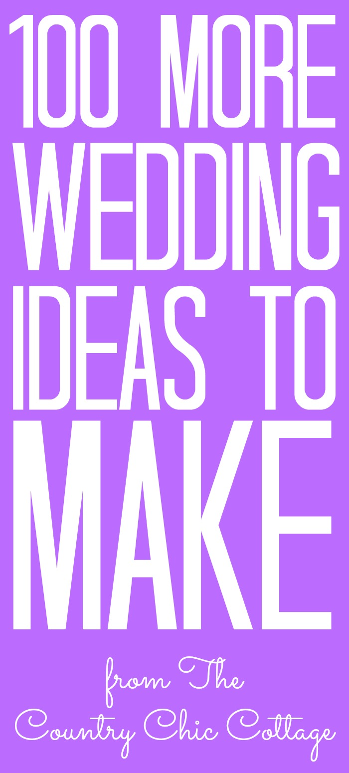 More wedding DIY ideas for your big day! If you are planning a wedding on a budget, our craft ideas are perfect for you! #wedding #diy