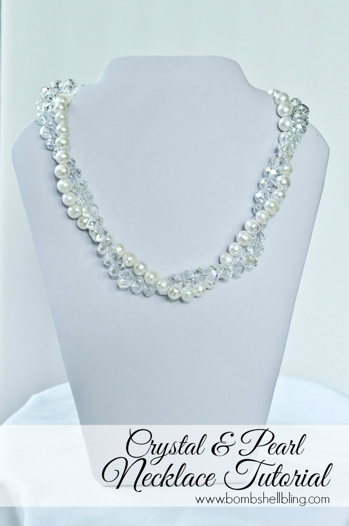 Crystal And Pearl Necklace Tutorial The Country Chic Cottage