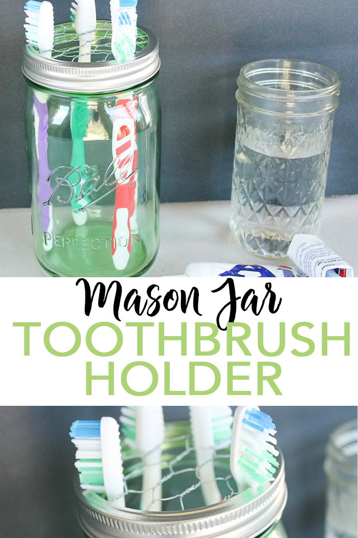Mason Jar tin Tootbrush Holder Lid