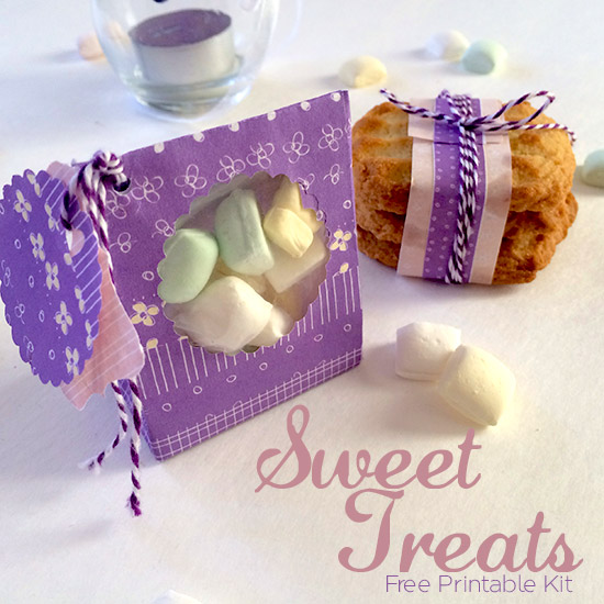 Sweet Treats Free Printable Kit -- perfect for wedding favors or any small gift. Print these for free and fill them up!