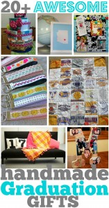 Over 20 handmade graduation gifts for you to pick and choose. A fun collection for every graduate.