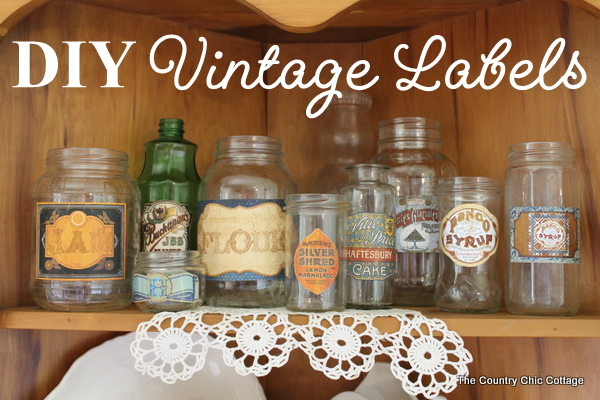 Make Your Own Vintage Labels The Country Chic Cottage