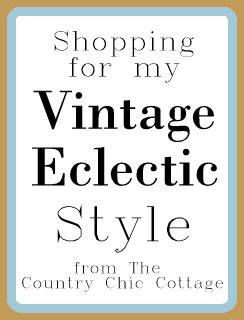 Shopping my Vintage Eclectic Style -- come along as I plan my family room with a bit of a vintage eclectic style!