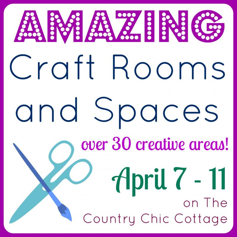 Organized Craft Room Tour -- a tour of a fabulous craft room with tons of ideas for organization. Plus a ton more craft room tours linked!