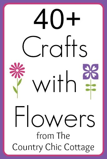 Crafts with Flowers -- get tons of spring inspiration with over 40 ideas for making crafts with flowers.