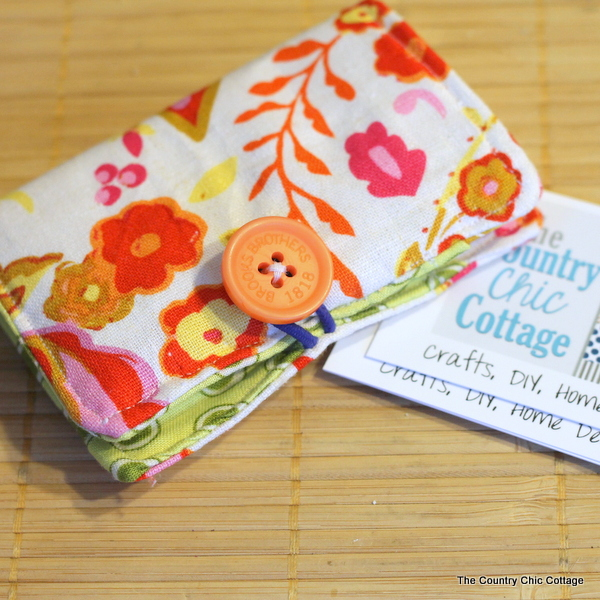 Diy business card holder the country chic cottage diy business card holder make your own business card holder with fun fabrics and colourmoves
