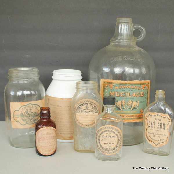 vintage bottle labels