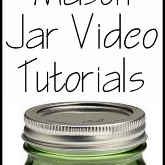 Get 14 mason jar video tutorials all in one place. A great place to see mason jar crafts being made live!