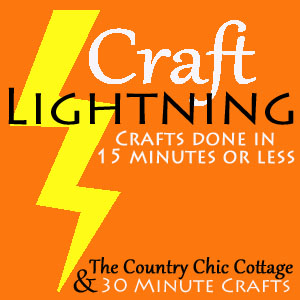 Craft Lightning -- quick crafts in 15 minutes or less!