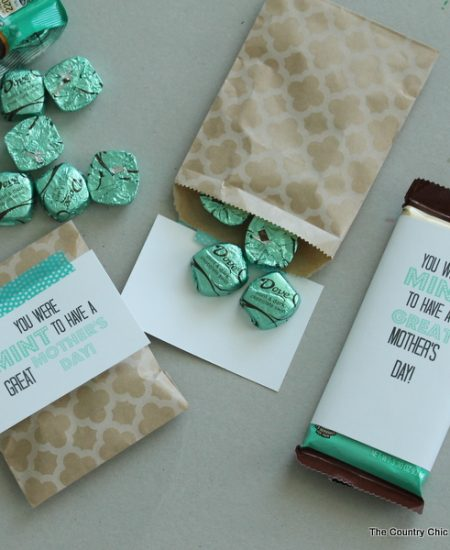 You were MINT to have a Great Mother's Day -- a fun way to package chocolate for a Mother's Day gift. Get the free printable here.