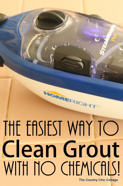 The Easiest Way to Clean Grout with NO Chemicals -- use steam to clean your grout with this super simple method.