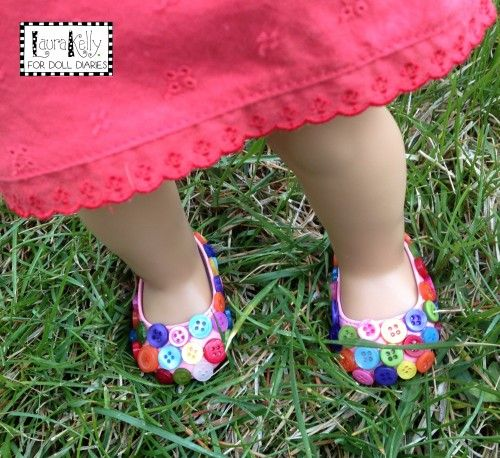 may4 button doll shoes