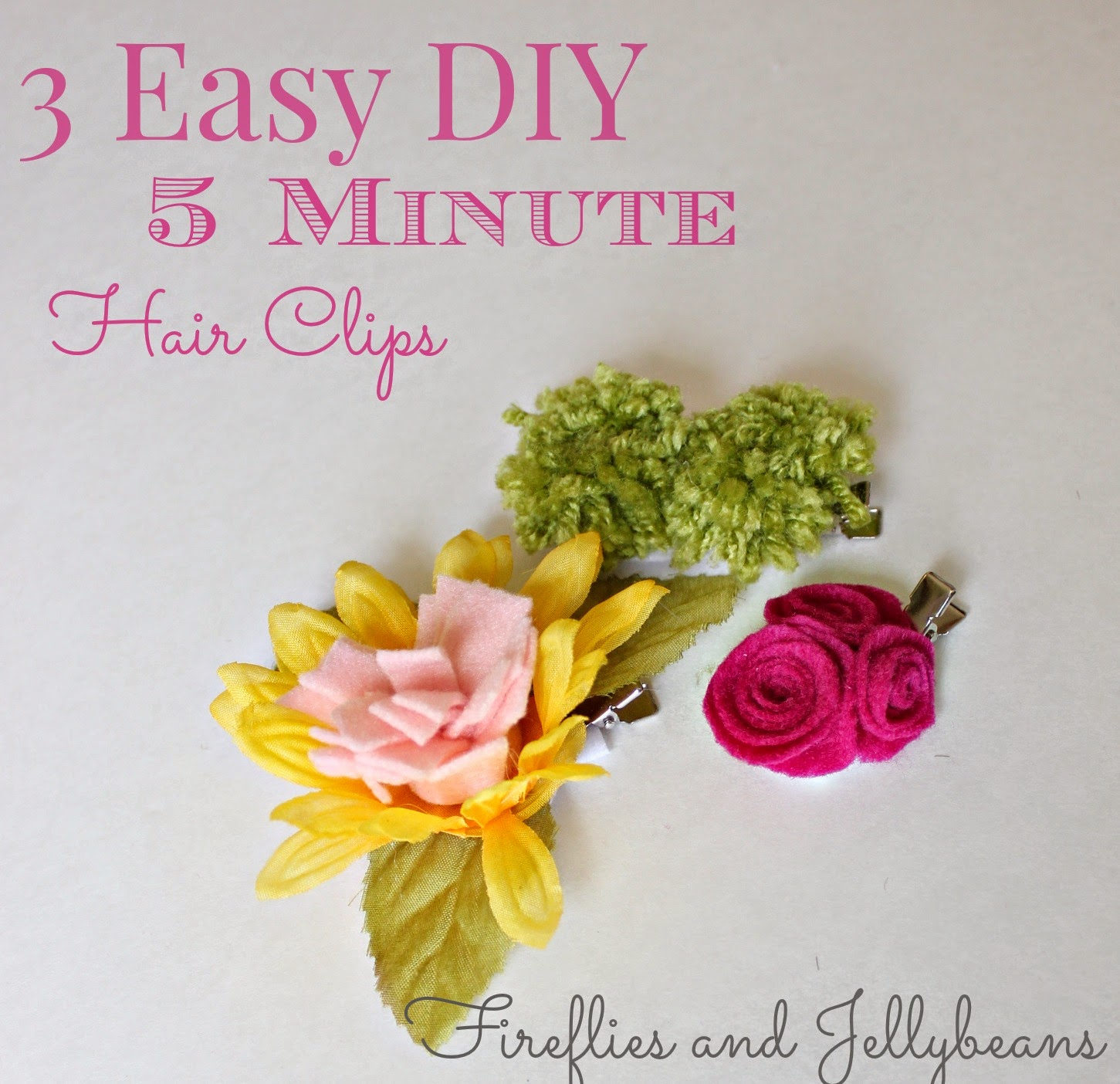 may5 Easy DIY Hair Clips 1