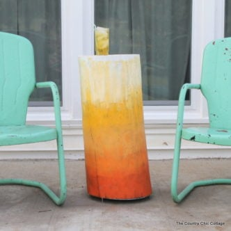Ombre Log Table for Outdoors