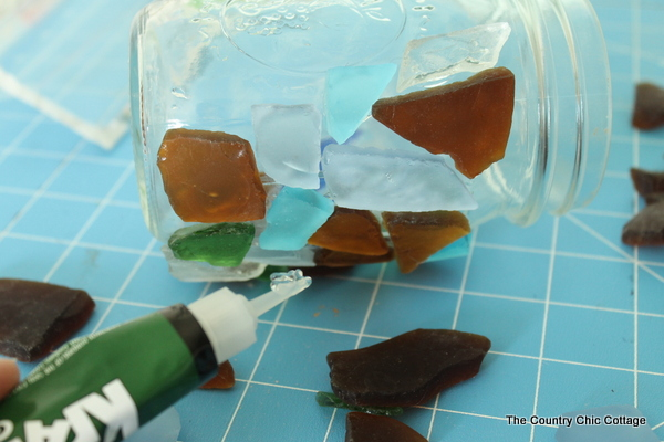 sea glass mason jar-004