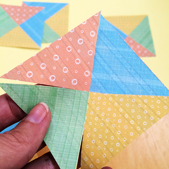 Cut out pinwheel squares