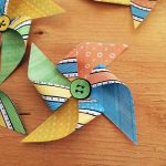 Add buttons to center of pinwheel