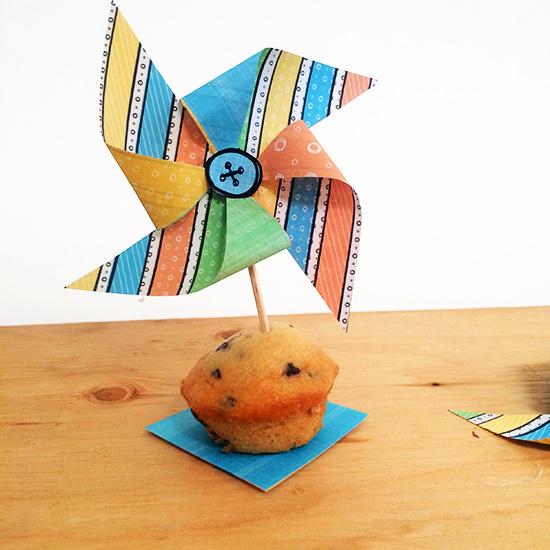 Summer Fun Pinwheels in a cute mini muffin by Jen Goode