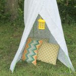 Backyard Teepee from Dollar General -- a fun way to spend an hour and build a teepee in your backyard. Let the summer fun roll with this project the kids can join in!