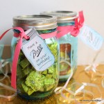 Ball Jar Printable Birthday Tags -- add a gift to a jar and attach one of these gift tags for a fun, unique, inexpensive gift!