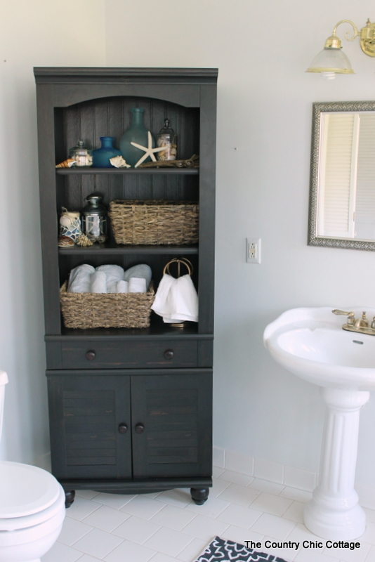 Finding a bathroom cabinet -- shopping for and finding the perfect bathroom cabinet -- even if it turns out to be a bookshelf!