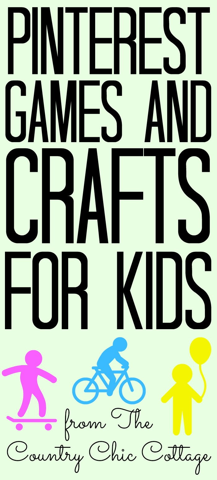 The ultimate list of Pinterest games and crafts for kids! Perfect for fighting summer boredom! #summer #kids