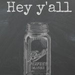 Free Printable Mason Jar Chalkboard Art -- fun art to print for your farmhouse.