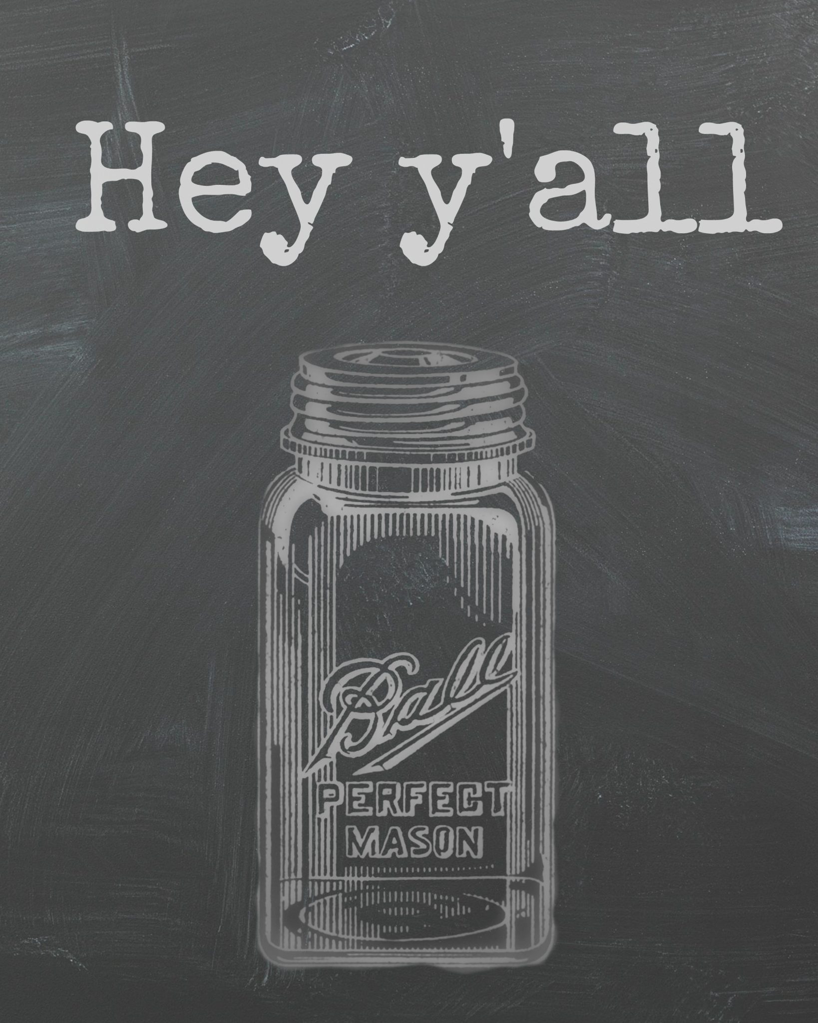 Kitchen Art Printables Collection Sale Instant Download: Free Printable Mason Jar Chalkboard Art