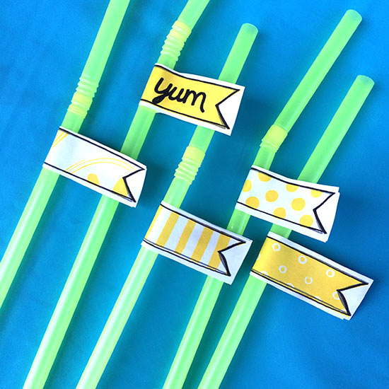 Straw flags for your lemonade stand