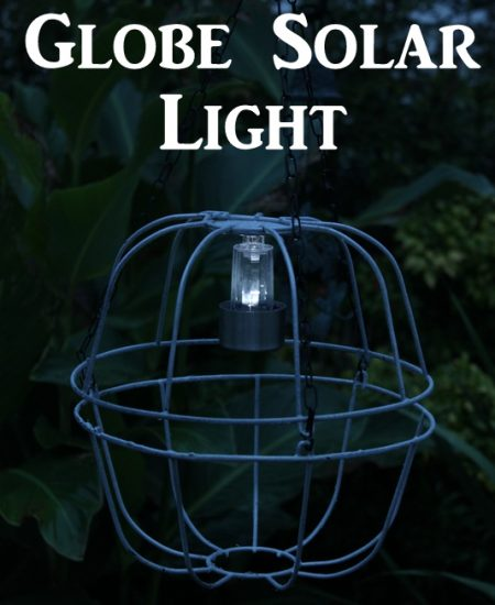 Globe Solar Light -- make this fun light for your outdoor space with just a few supplies.