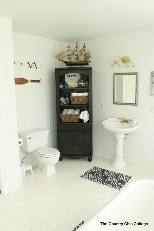 Nautical Themed Bathroom Design The Country Chic Cottage