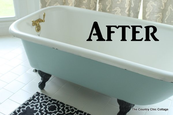 Painting a Claw Foot Tub - The Country Chic Cottage