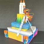 School Supplies Tower Teacher Gift -- make this fun gift for back to school. Every teacher needs school supplies!