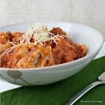Slow Cooker Ravioli with Meat Sauce -- a great recipe to cook in your crock pot for busy nights on the go.