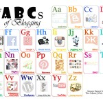 Free Printable Art for Bloggers -- Fun ABC flash cards with blogging terms. Print and frame to hang in your creative space.