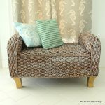 Wicker Makeover with paint -- add paint to wicker to give it a fun new look that will fit in with your home. See how this bench looked before and after the paint treatment.