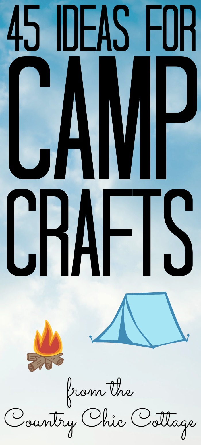 The best camp crafts for your summer all in one place! Easy crafts that the kids will love! #camp #kidscrafts