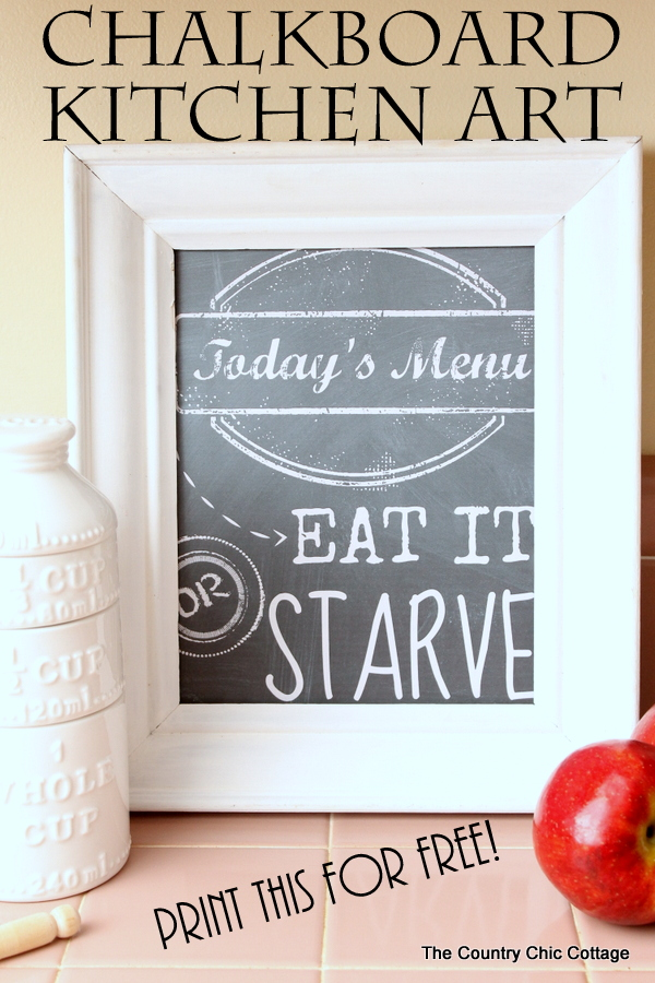Chalkboard Kitchen Art Print This Fun For Free And Let Them Know